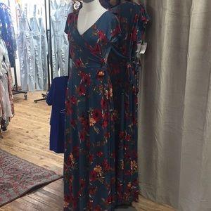 bac11fe9193 Gilli Dresses - Gilli Teal Floral Maxi Dress
